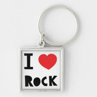 I love Rock Keychain
