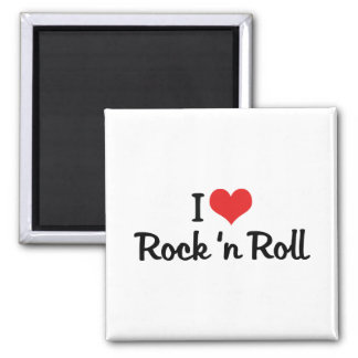 I Love Rock 'n Roll 2 Inch Square Magnet
