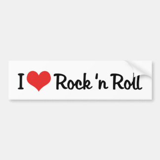 I Love Rock 'n Roll Bumper Sticker