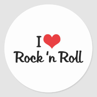 I Love Rock 'n Roll Classic Round Sticker