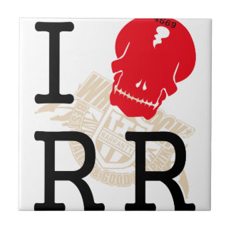 I LOVE Rock n Roll - WHITEROCK - Ceramic Tiles