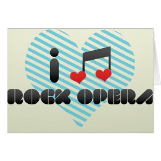 I Love Rock Opera Greeting Card