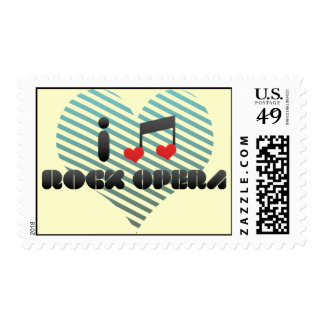 I Love Rock Opera Postage Stamp
