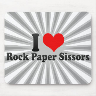 I love Rock Paper Sissors Mouse Pad