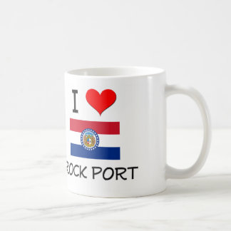 I Love Rock Port Missouri Classic White Coffee Mug
