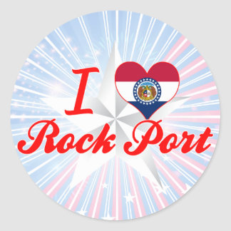 I Love Rock Port, Missouri Classic Round Sticker
