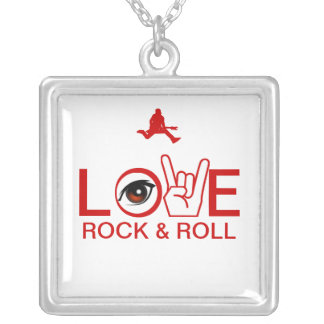 I Love Rock & Roll Silver Plated Necklace