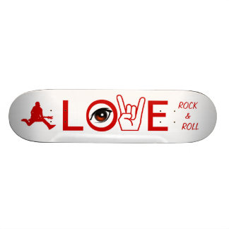I Love Rock & Roll Skateboard Deck