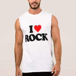 I LOVE ROCK SLEEVELESS SHIRT