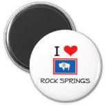I Love Rock Springs Wyoming Fridge Magnets