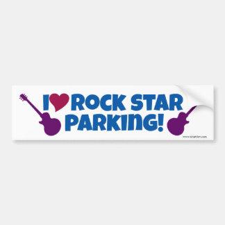 I Love Rock Star Parking Bumper Sticker