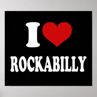 I Love Rockabilly Poster