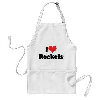 I Love Rockets Adult Apron