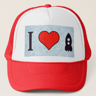 I Love Rockets Trucker Hat