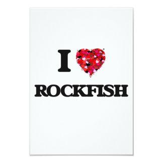 I love Rockfish 3.5x5 Paper Invitation Card