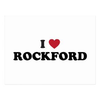 I Love Rockford Illinois Postcard