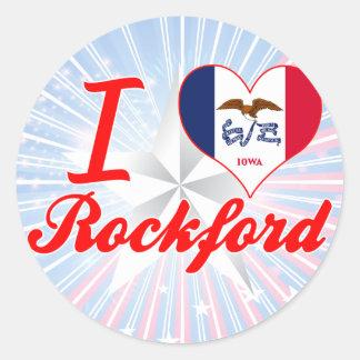 I Love Rockford, Iowa Stickers