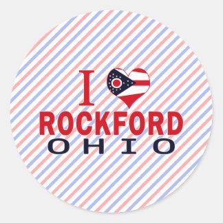 I love Rockford, Ohio Round Stickers