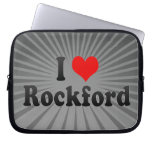 I Love Rockford, United States Laptop Computer Sleeves