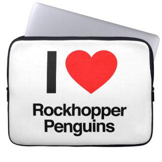 i love rockhopper penguins laptop sleeves
