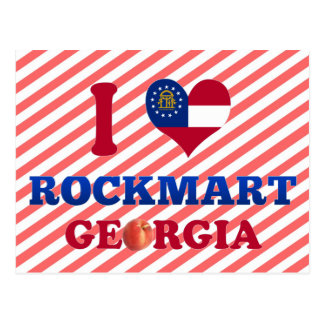 I Love Rockmart, Georgia Post Card