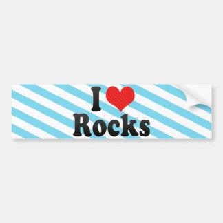 I Love Rocks Car Bumper Sticker