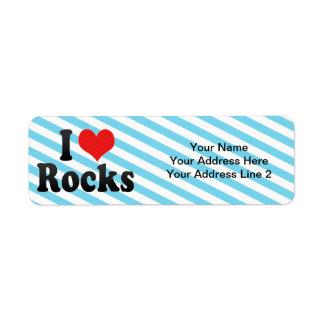 I Love Rocks Return Address Labels
