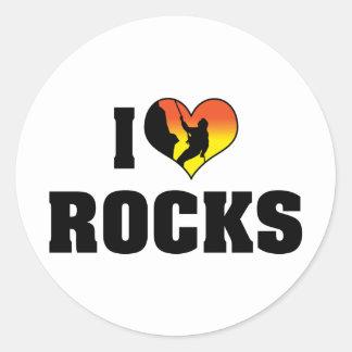 I Love Rocks - Rock Climbing Classic Round Sticker