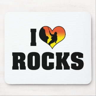 I Love Rocks - Rock Climbing Mouse Pad