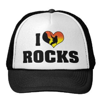 I Love Rocks - Rock Climbing Trucker Hat