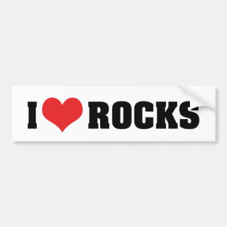 I Love Rocks - Rock Geology Geologist Lover Bumper Sticker