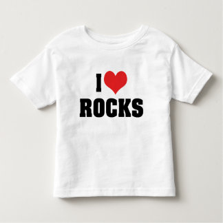 I Love Rocks - Rock Geology Geologist Lover Toddler T-shirt