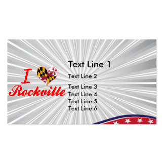 I Love Rockville, Maryland Double-Sided Standard Business Cards (Pack Of 100)