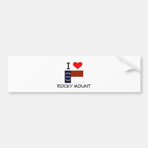 I Love Rocky Mount North Carolina Car Bumper Sticker