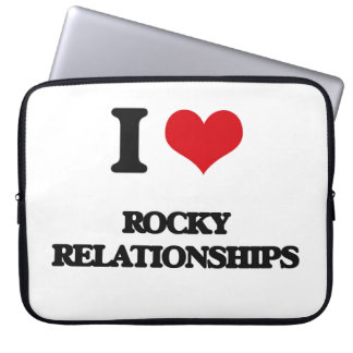 I Love Rocky Relationships Computer Sleeve