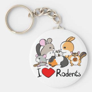 I love rodents cute cartoon keychains