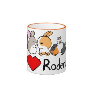 I love rodents cute cartoon coffee mug