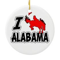 I Love Rodeo Alabama Ceramic Ornament