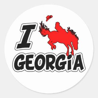 I Love Rodeo Georgia Classic Round Sticker