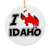 I Love Rodeo Idaho Ceramic Ornament
