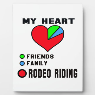 I love Rodeo Riding. Display Plaques