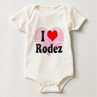 I Love Rodez, France Baby Bodysuit