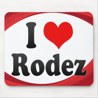 I Love Rodez, France Mouse Pad