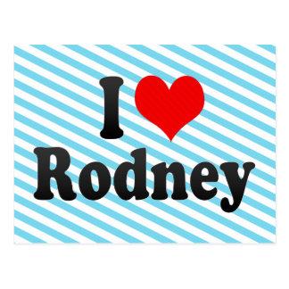 I love Rodney Postcard