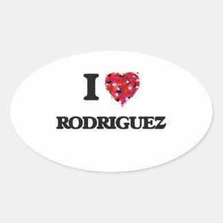 I Love Rodriguez Oval Sticker