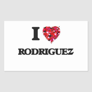 I Love Rodriguez Rectangular Sticker