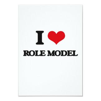 I Love Role Model 3.5x5 Paper Invitation Card