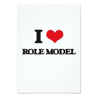 I Love Role Model 5x7 Paper Invitation Card
