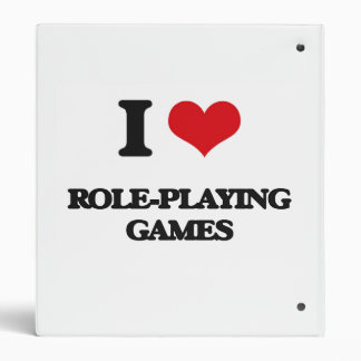 I Love Role-Playing Games Vinyl Binder