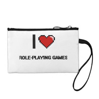 I Love Role-Playing Games Digital Retro Design Coin Wallets